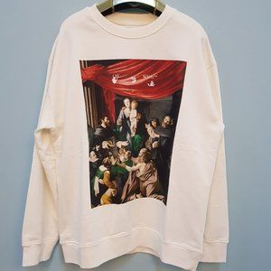Off-White Men Caravaggio Announcement Print SweatS